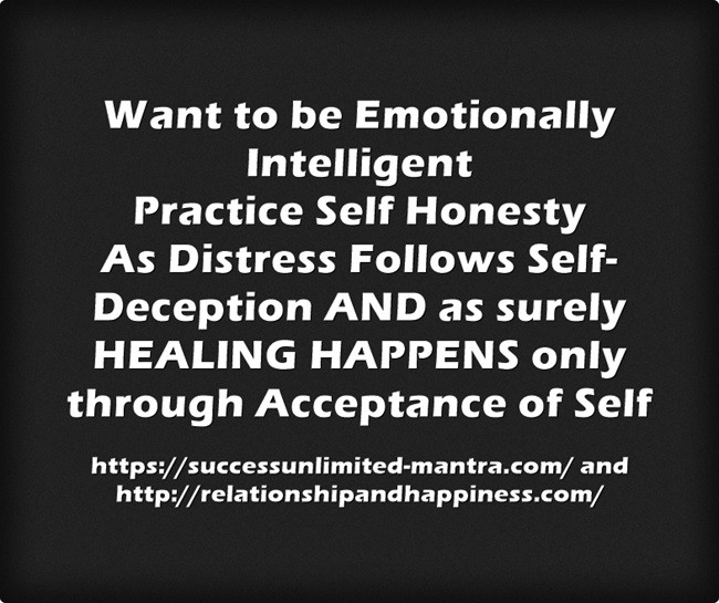 Acquire massive advantages by being honest with yourself