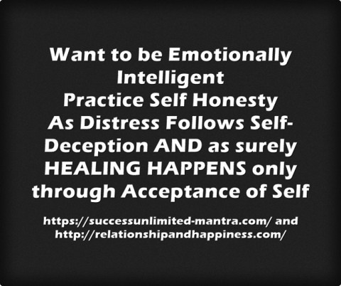 The greatest gift to yourself - be honest with yourself