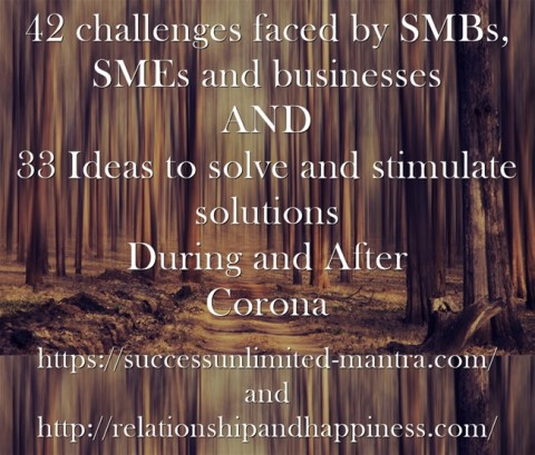 CEOs, SMEs, SMBs and Business owners identify and find solutions to challenges killing your business created because of corona
