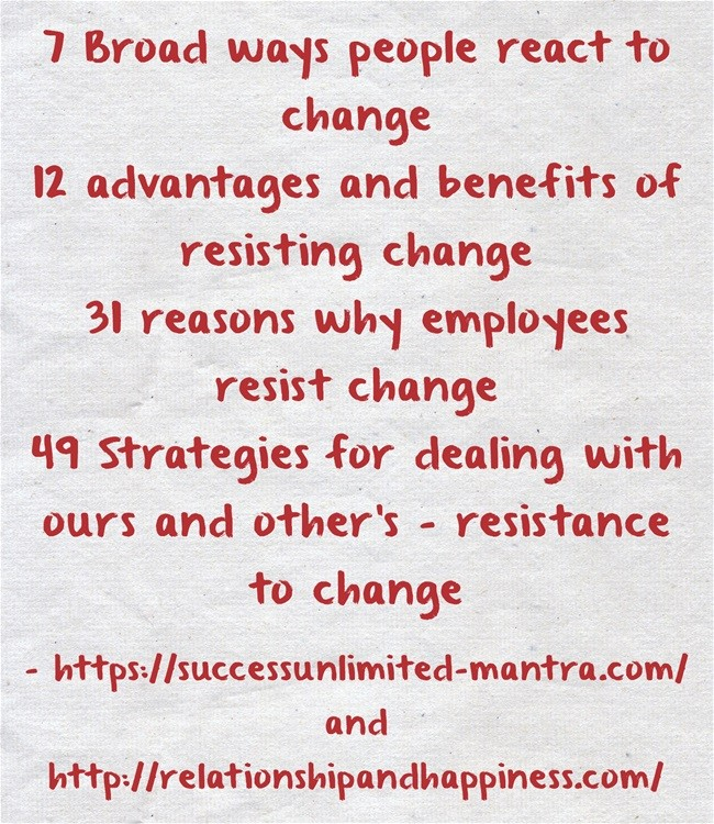 Manage resistance to change in your organization effectively