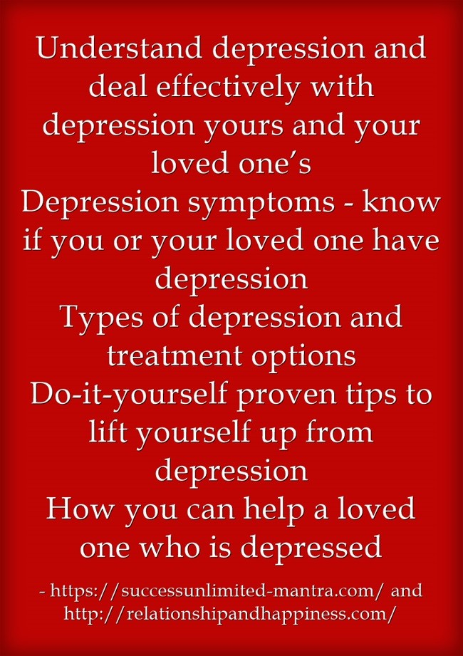 Understanding learning and dealing with depression