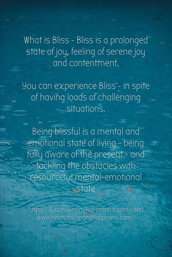 How to find bliss in your life